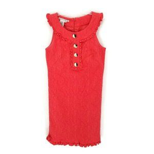Maggy London Coral 1960s Style Sleeveless Zip Up A